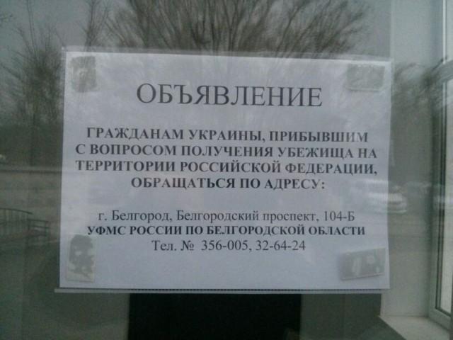 Убежище гражданам Украины в России