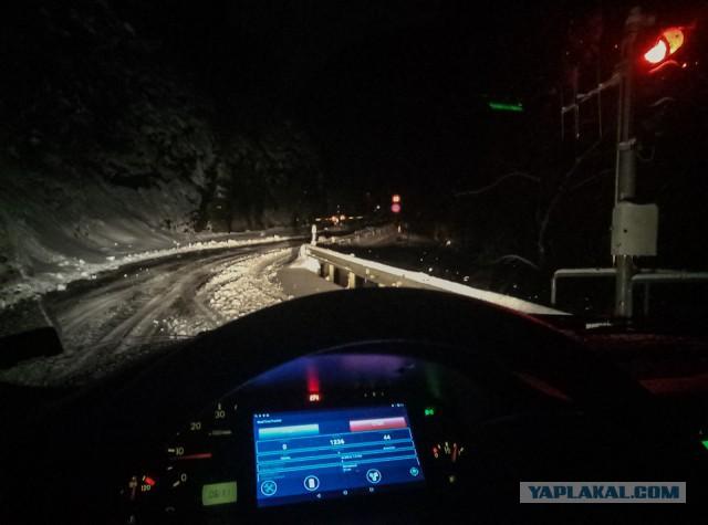 Как ночью можно переехать закрытый альпийский перевал