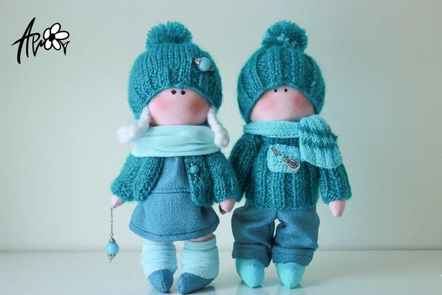 Самодельные куклы из ткани фото