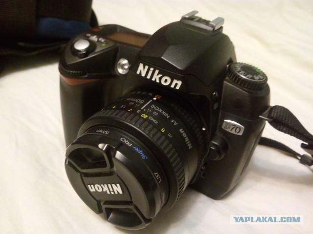 Продам Nikon d70 + nikkor 50mm