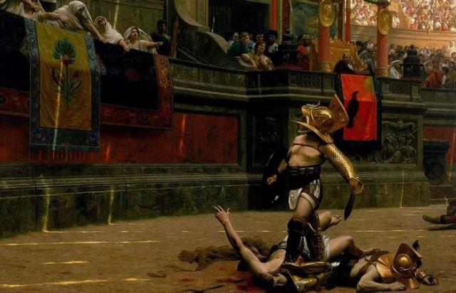 Пьянство, разврат и зрелища: как в Колизее проводили морские гладиаторские побоища