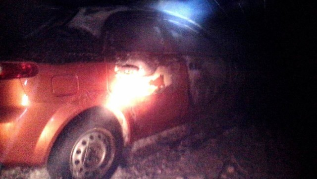 Сожгли авто оператора дорожных камер