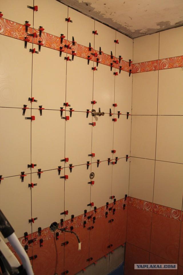 Ремонт ванной комнаты своими руками.
