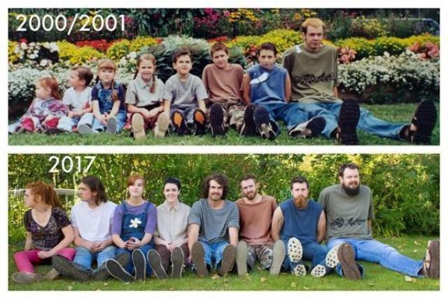 Когда люди воссоздают старые фото - это всегда интересно