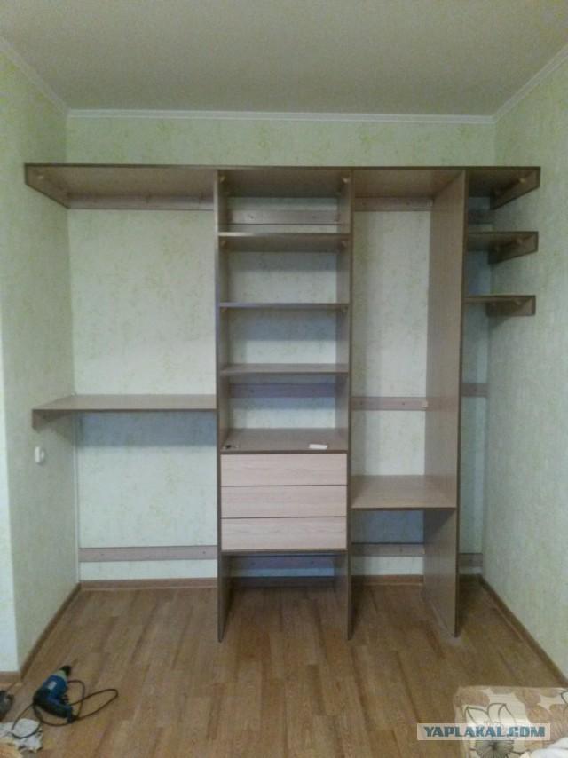 Как сделать встроенный шкаф-купе своими руками: инструкция с 3