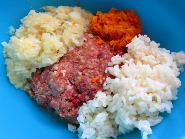 капуста фарш рис морковь лук