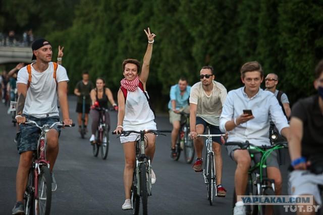 Велопробег в Минске, и задержания.