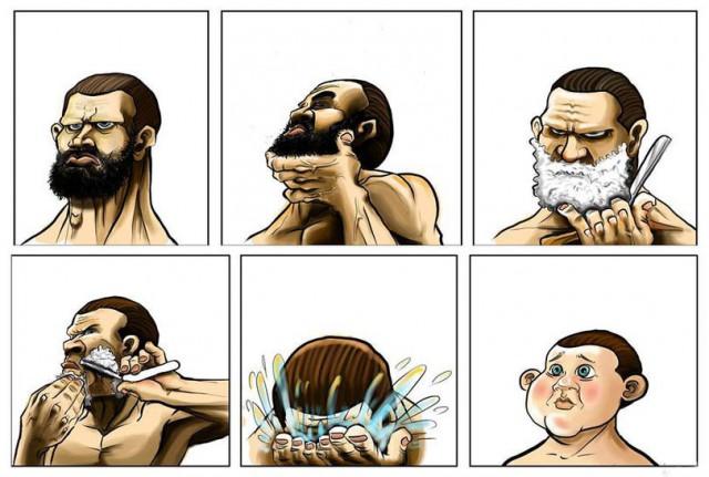 У некоторых бывает после бритья