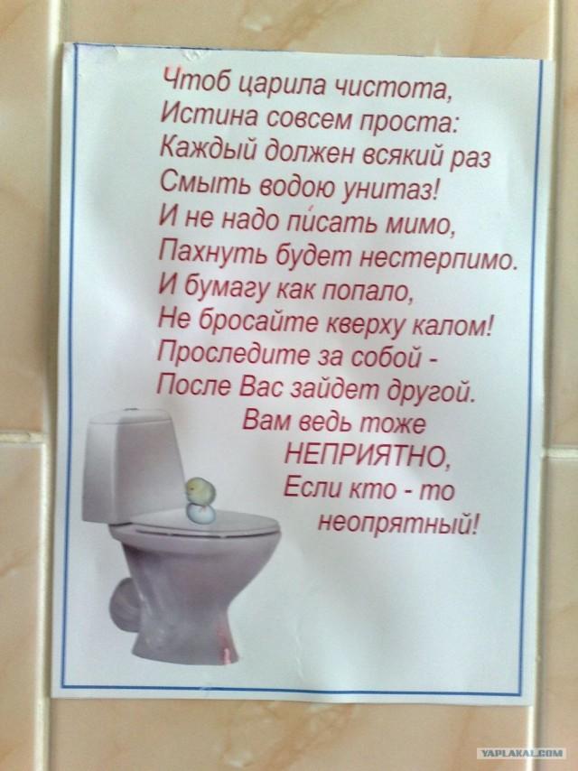 Смешной стих о туалете