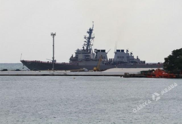 В Одессу прибыл американский военный корабль