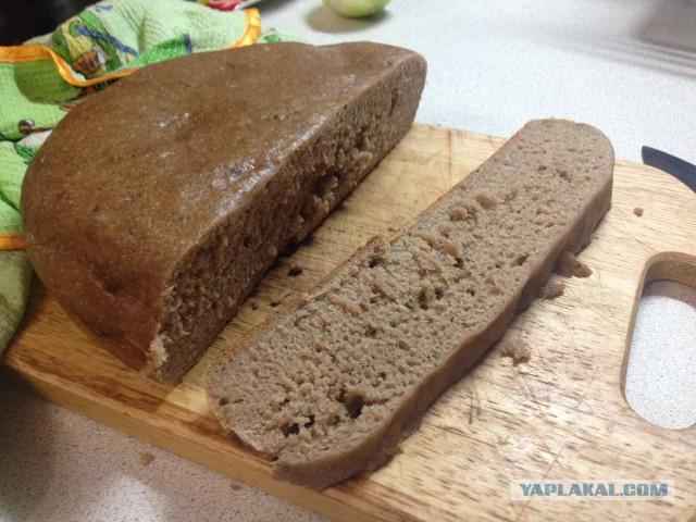 Бездрожжевой ржаной хлеб без закваски