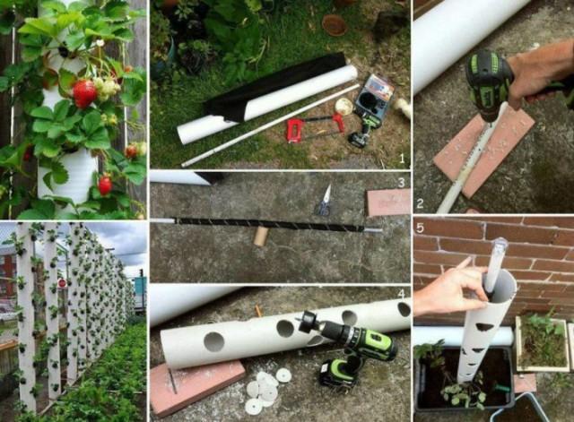 16 поделок из пластиковых труб, которые несложно сделать на даче своими руками
