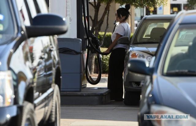 Падение цен на бензин