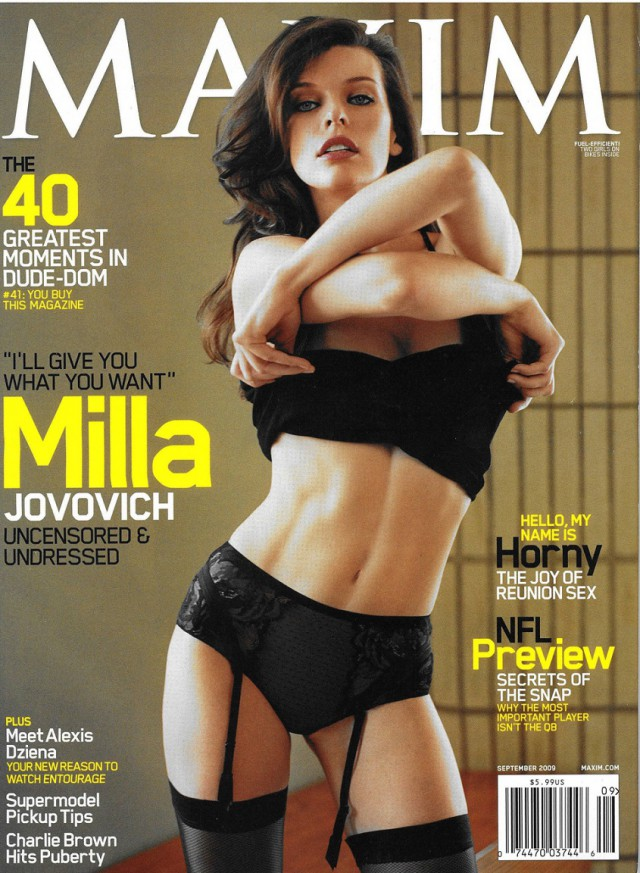 Милла Йовович. MAXIM '2009