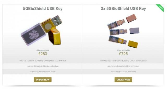 В Великобритании начали продавать usb-флешки от «вредных сетей 5G» по $350