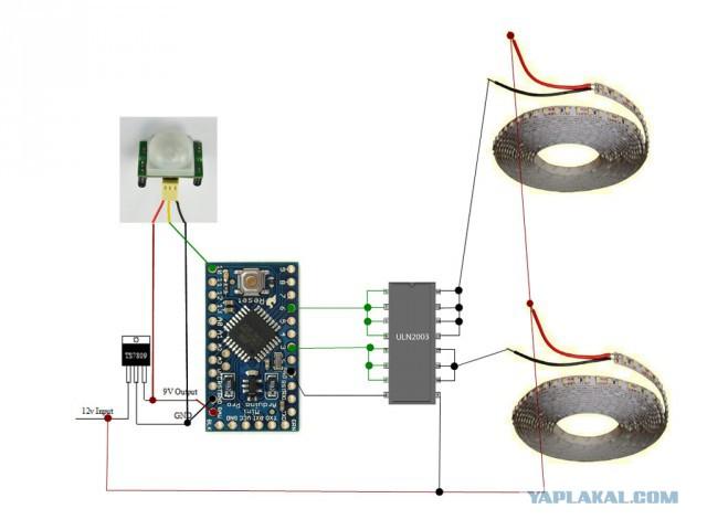DIY контроллер светодиодного света на кухне