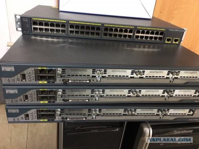 Сетевое оборудование Cisco 2800 series 4 штуки