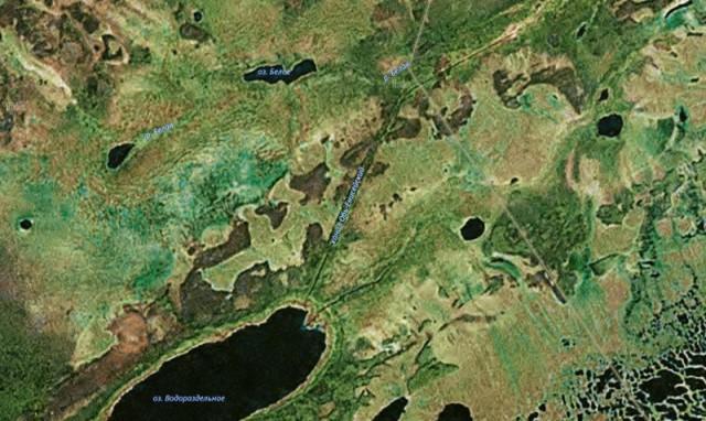 Заброшенный канал между Енисеем и Обью