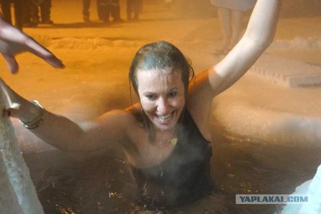 Собчак и Крещенское купание