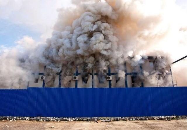 Пожар на Олимпийском объекте в Сочи