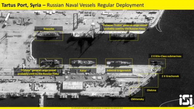 Российские корабли покинули базу в Сирии перед американским ракетным ударом