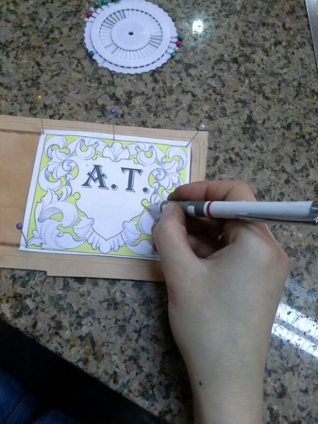 Как сделать эскиз штампа 678