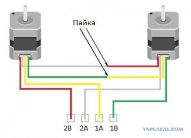 Соединение шагового двигателя с осью