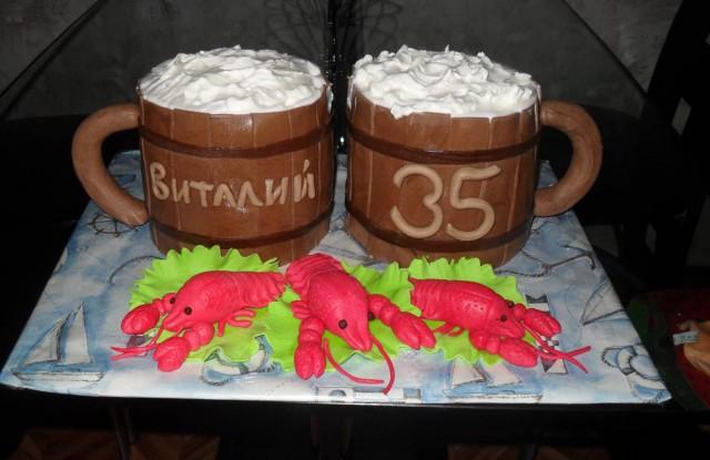 Прикольные торты на юбилей фото
