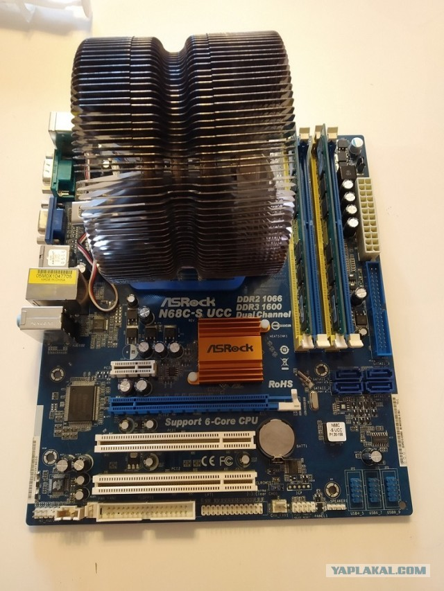 Asrock N68C-S UCC am3\4GB DDR2\athlon 64 X2 5200+