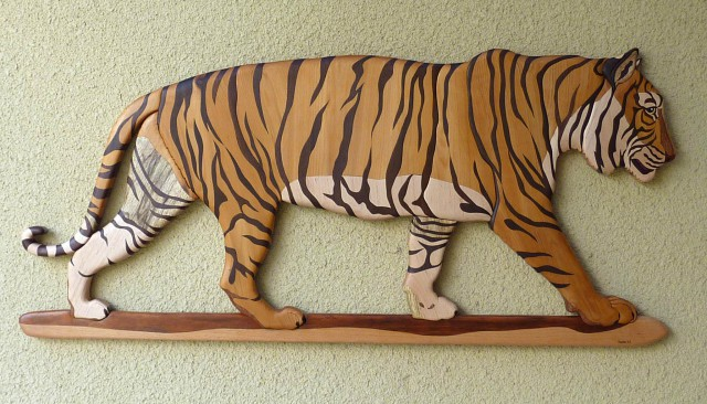Скульптура тигра своими руками 81