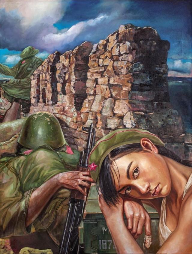 Девушки в армии Китая: сексуальная живопись Ху Минь