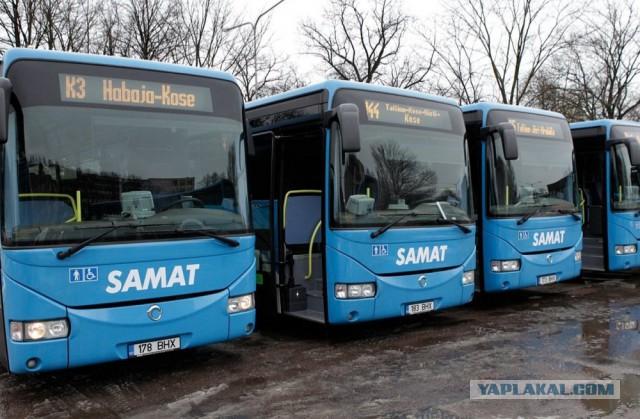 С 1 июля в 10 уездах Эстонии вводится бесплатный общественный транспорт.
