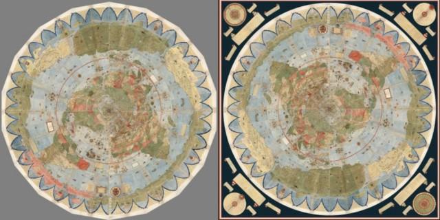 Таинственная карта мира Урбано Монте, созданная 430 лет назад