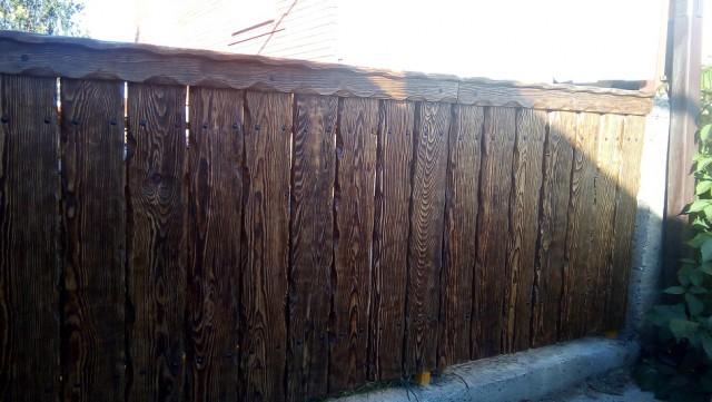 Забор с калиткой под старину