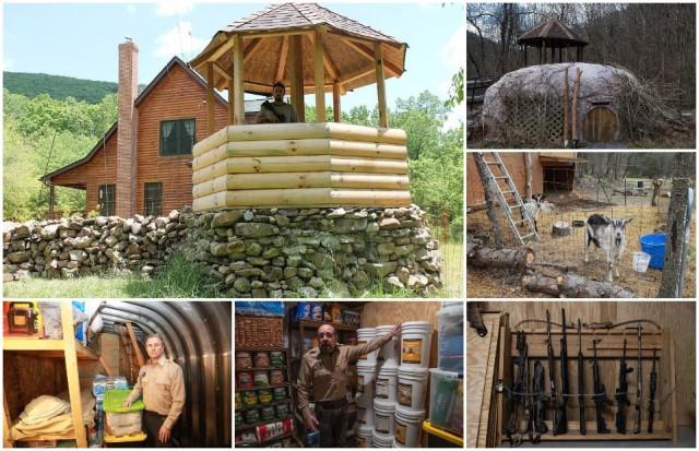 Лагеря выживания с бункерами, арсеналами оружия, сторожевыми вышками и запасами еды на 25 лет в США