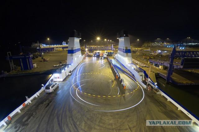 Грузопассажирский паром Finnlines изнутри