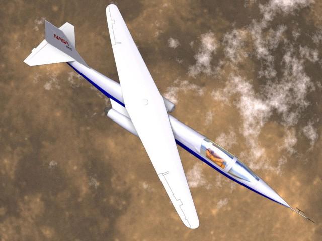 Самолет с кривым крылом.