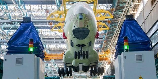 В Ульяновске по новым технологиям собран первый фюзеляж Ил-76МД-90А