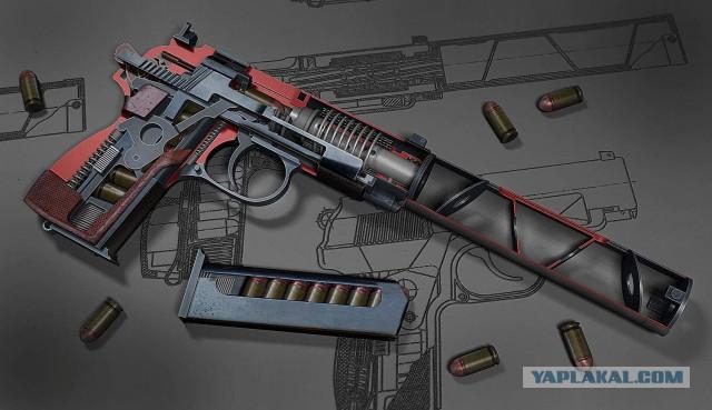 Оружия в 3d моделях разрезные модели