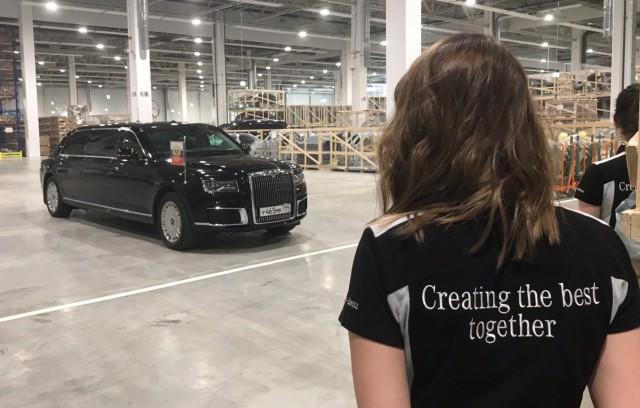 В Подмосковье торжественно открыли завод Mercedes-Benz. Туда приехал и Путин — на отечественном Aurus
