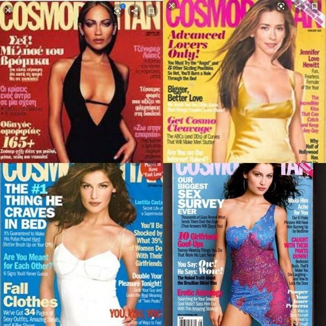 Как изменилась обложка журнала Cosmopolitan с начала 2000-х