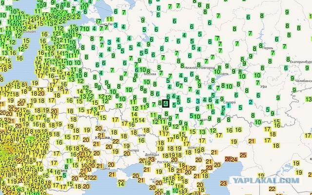 Рекордные холода в европейской части РФ