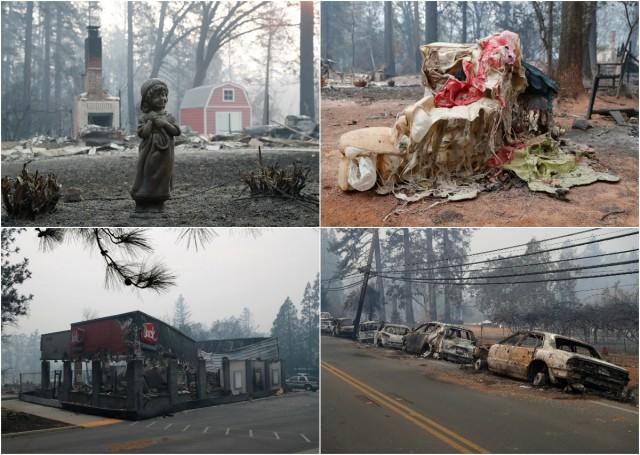 Фотографии последствий самого смертоносного пожара в Калифорнии