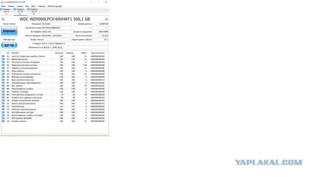 Новый HDD WD Blue WD5000lpcx, 500Гб, SATA III, 2.5
