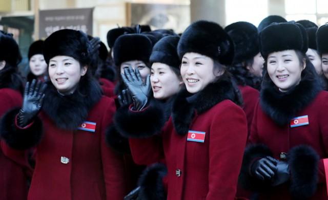 Болельщицы из Северной Кореи на олимпиаде