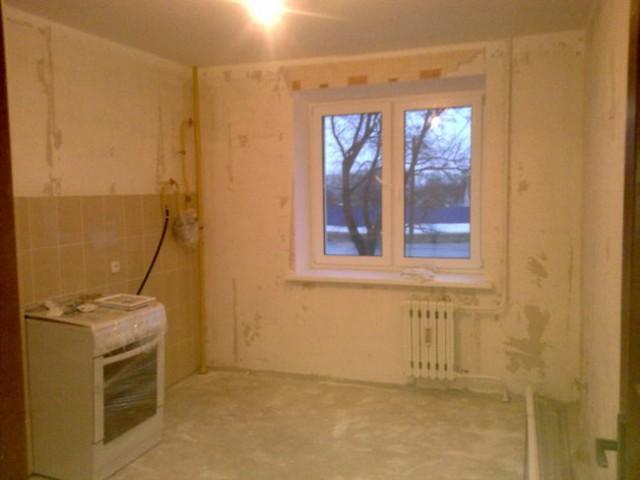 Все этапы ремонта угловой кухни 11 кв.м