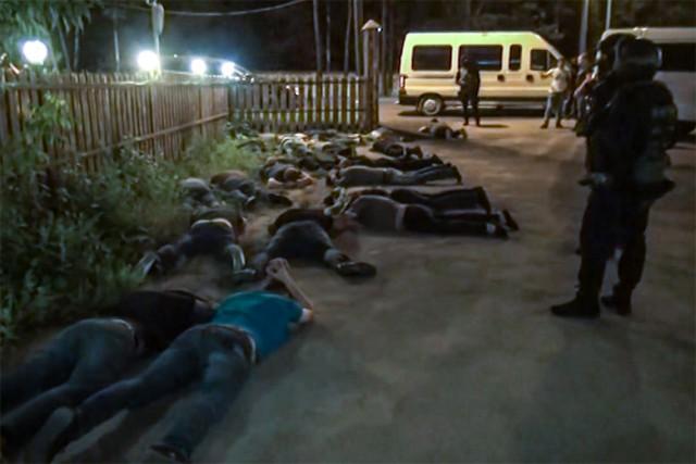 Целая сотня «братков» задержана на «сходке» в Подмосковье