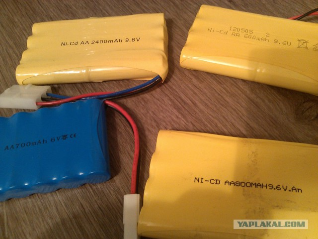 Аккумуляторы для радиоуправляемых игрушек и Li-pol
