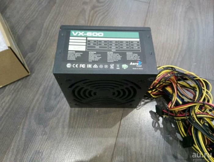 Блок питания aerocool vx 600w в идеале.