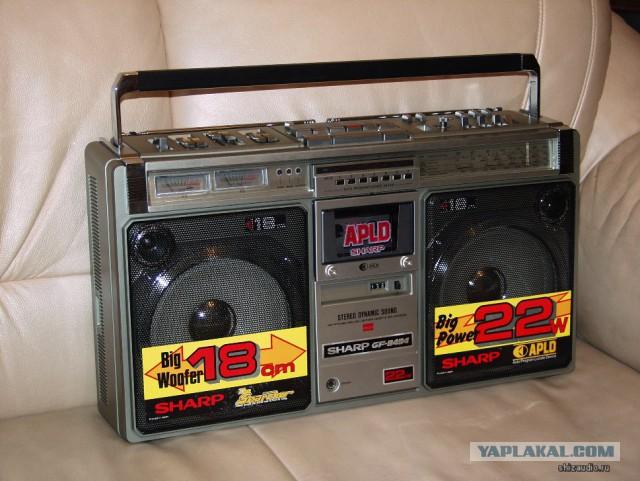 Японские магнитолы 80-х.